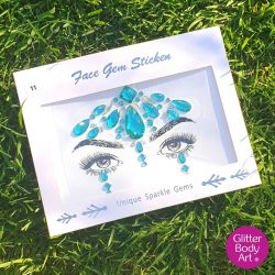 green festival face gel, self-adhesive face gems