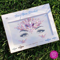 pink festival face gems, self-adhesive face jewel, body jewellery