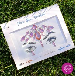 pink festival face gem, self-adhesive face jewels