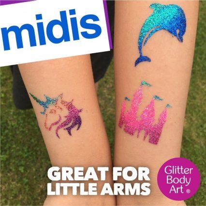 Pretty girls glitter tattoos