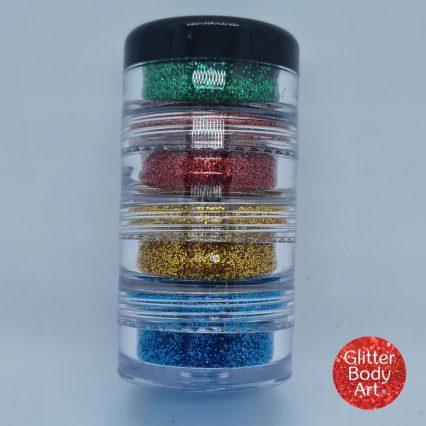 christmas glitter stacker