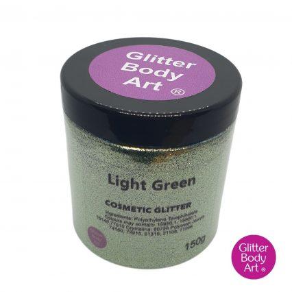 light green cosmetic wholesale glitter