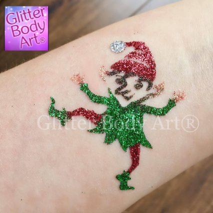 elf temporary tattoo stencil, pixie glitter tattoo