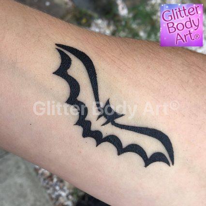 bat temporary tattoo stencil for batman birthday party glitter tattoo