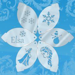 elsa facepainting set of 6 stencils
