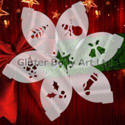 Christmas face paint stencil templates