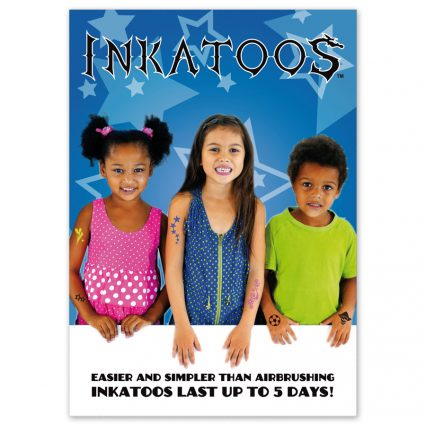 Inkatoo advertising poster, A4 size, temporary tattoo advertising poster