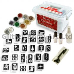 Christmas Party Glitter Tattoo kit - temporary tattoos for christmas party