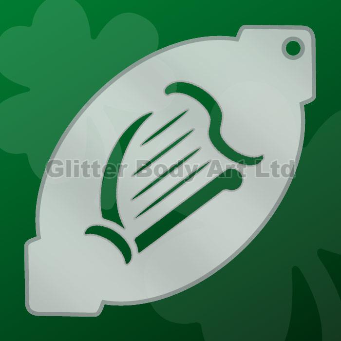 Henna Tattoo Kits Ireland: Irish Harp Facepainting Stencil