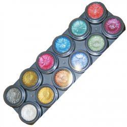 grimas pearl pallette of 12 colours