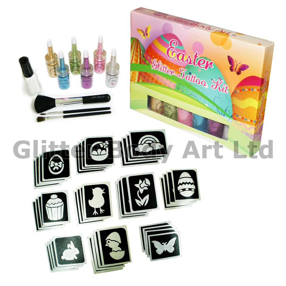 Easter glitter tattoo kit temporary tattoo store easter glitter tattoo kit negle Images