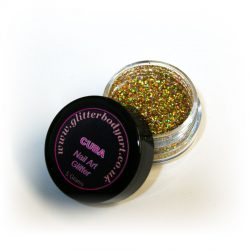 gold chunky holographic nail art glitter jar for nail techs